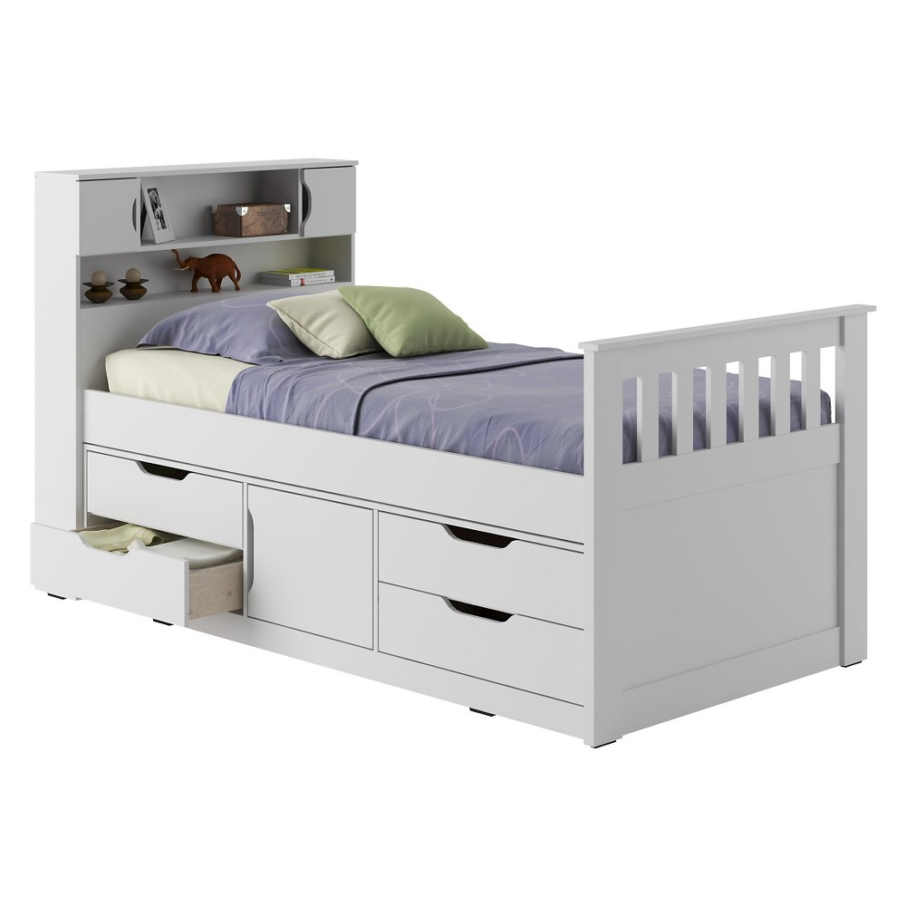 Kids Bed with Storage - White - CorLiving