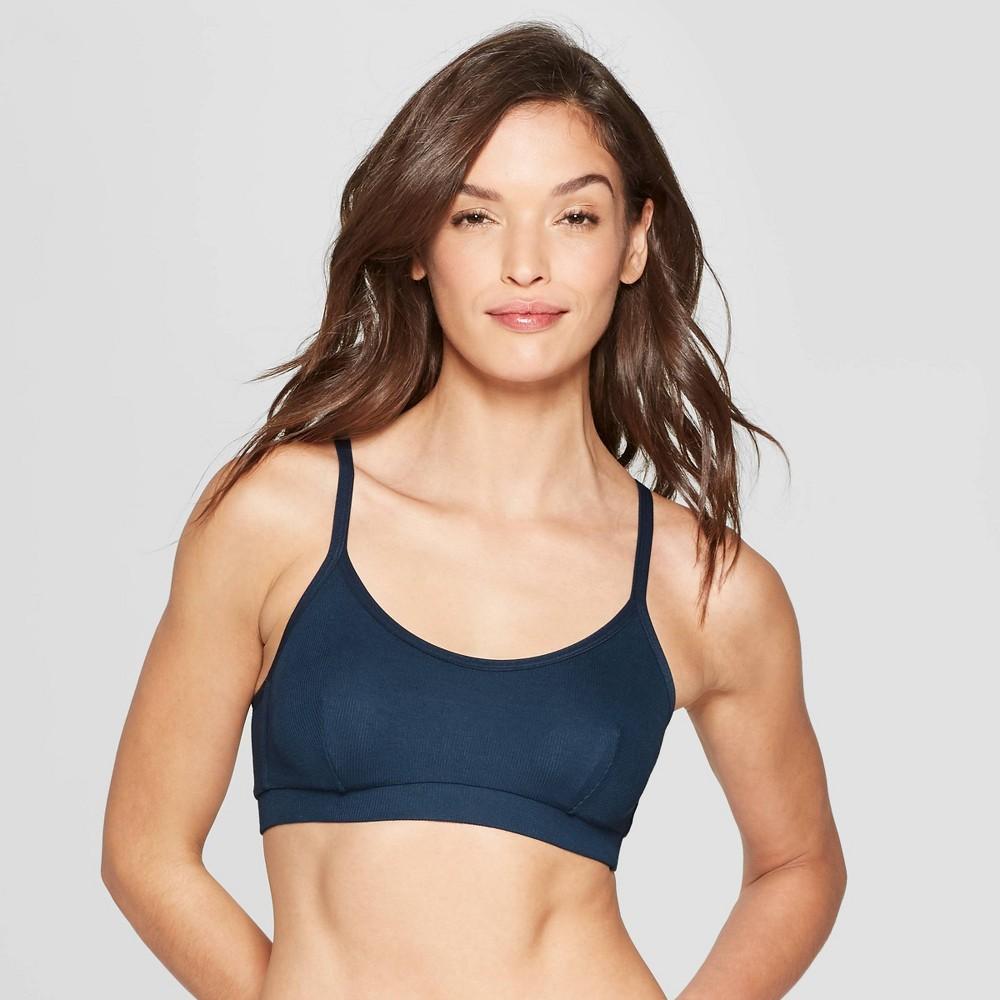 Women's Padded Ribbed Bralette - Auden Smart Blue XL
