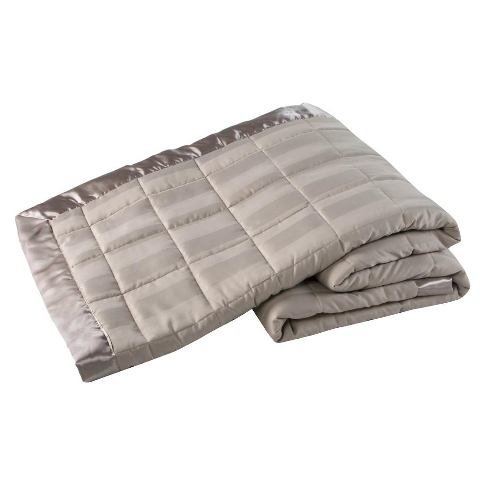 Grand Stripe Down Alternative Blanket (Twin) Oxford Tan