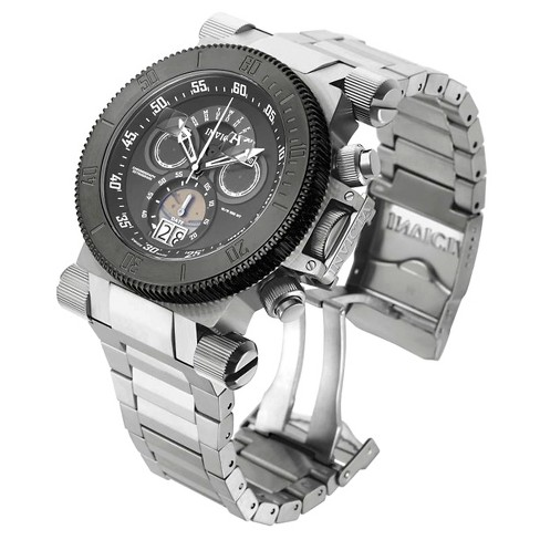 Men's Invicta 17646 Coalition Forces Quartz Chronograph Gunmetal Dial Link Watch - Silver - image 1 of 1