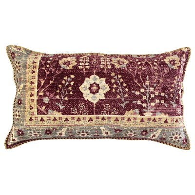 "14""x26"" Antique Rug Patterened Throw Pillow Cover Red - Rizzy Home"