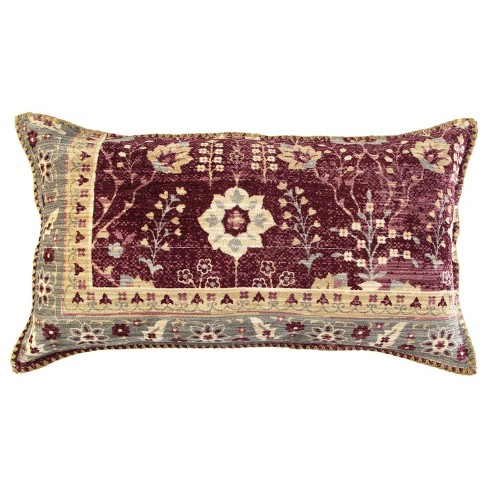 """14""""x26"""" Antique Rug Patterened Throw Pillow Cover Red - Rizzy Home - image 1 of 4"""