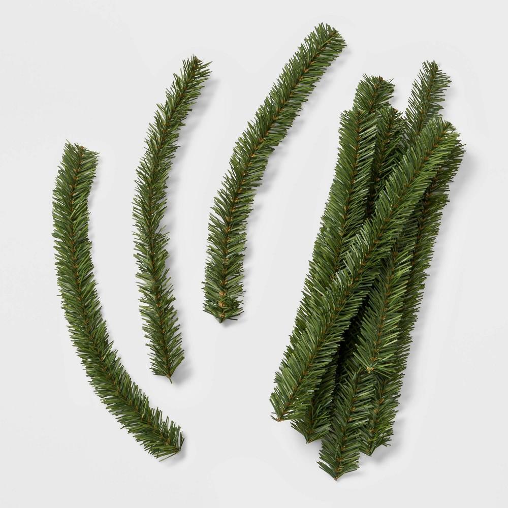 Image of 10ct Artificial Christmas Garland Ties - Wondershop , Green