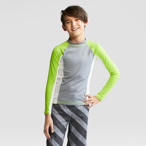 0c508da3f7 Boys' Long Sleeve Rash Guard - Cat & Jack™ Green M : Target