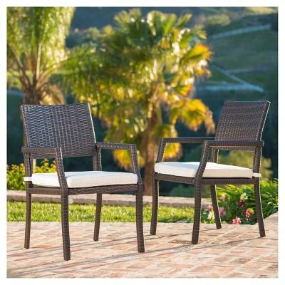rhode island set of 2 wicker dining chairs multibrown rh target com  malibu outdoor furniture rhode island