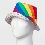 ff3dbf5e386d3 Pride Adult Gender Inclusive Striped Hat - Rainbow One Size
