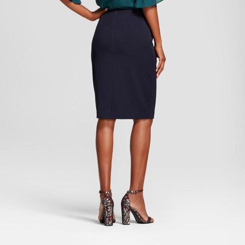 229bb0ad66 Women's Bi-Stretch Twill Pencil Skirt - A New Day™ Federal Blue 4 ...
