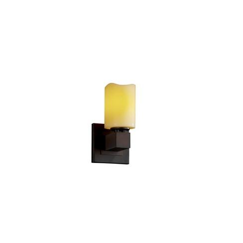 Justice Design Group CNDL-8705-14-AMBR CandleAria 1 Light Bathroom Sconce - image 1 of 1