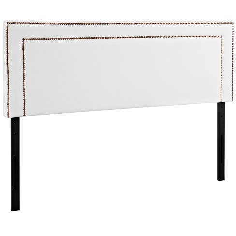 Jessamine Full Upholstered Vinyl Headboard White - Modway - image 1 of 4