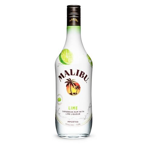 Malibu Lime Rum 750ml Bottle - image 1 of 1
