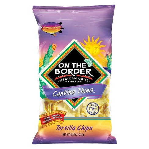 On The Border Cantina Thins Tortilla Chips - 8.25oz - image 1 of 1
