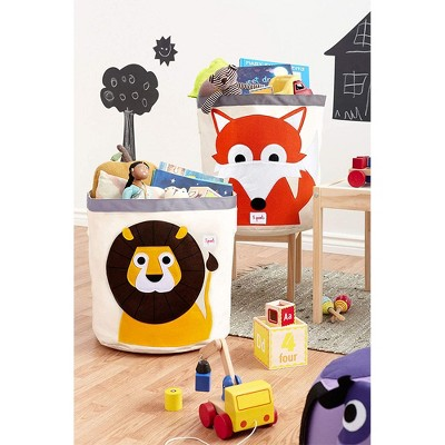 3 Sprouts UBNLIO Canvas Storage Bin Laundry and Toy Basket for Baby and Kids, Lion