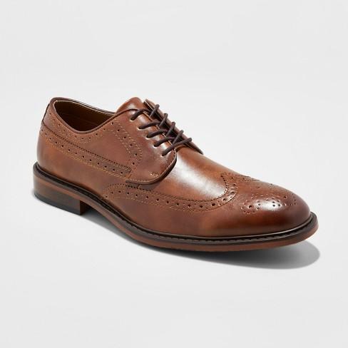 2d35e38c23f1d Men s Jaylen Wingtip Dress Shoe - Goodfellow   Co™ Tan 12   Target