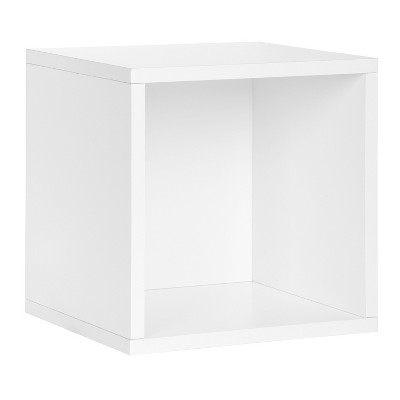 Way Basics Eco Stackable Vinyl Record Storage Cube White
