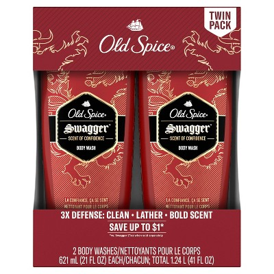 Old Spice Swagger Scent of Confidence Men's Body Wash Twin Pack - 21oz/2pk