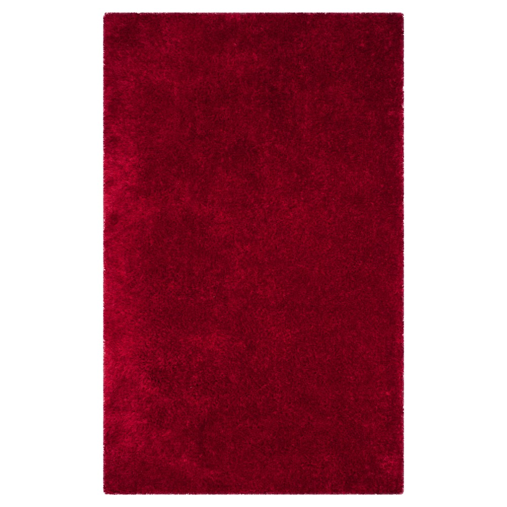 Red Solid Tufted Accent Rug 3'x5' - Safavieh