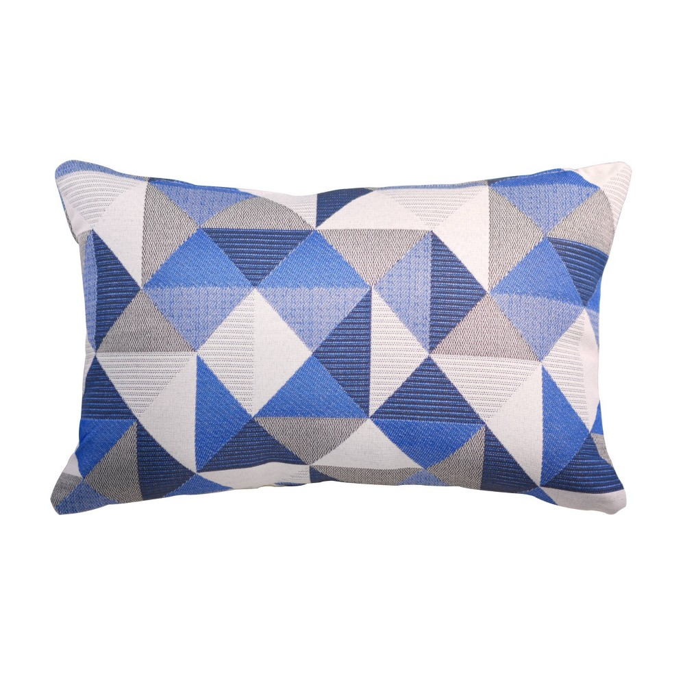 Pacifica Lumbar Outdoor Throw Pillow Ruskin Blue Astella