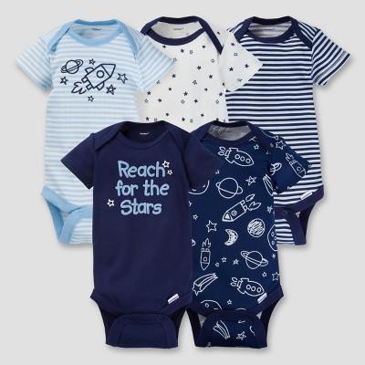 Baby Boys' 5pk Onesies® Bodysuit - Space Navy 3-6M - Gerber®