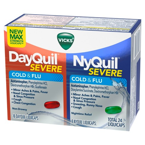 vicks dayquil nyquil severe cold flu relief liquicaps