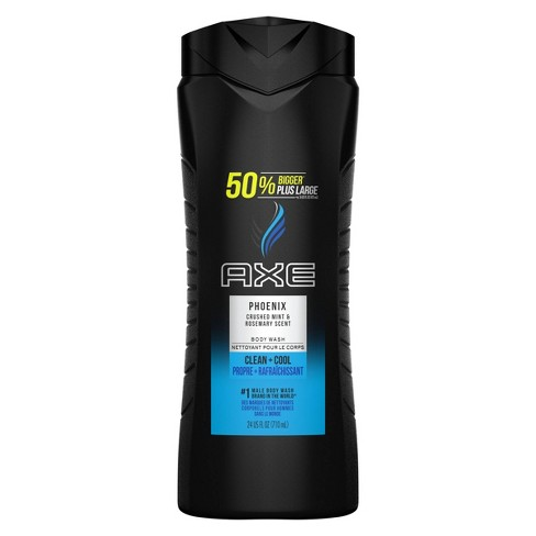 AXE Phoenix Clean + Cool Crushed Mint & Rosemary Scent Body Wash Soap - 24 fl oz - image 1 of 4