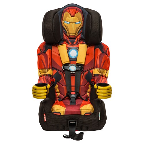 KidsEmbrace Marvel Avengers Iron Man Combination Harness Booster Car Seat, Red