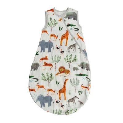 Loulou Lollipop Muslin Sleep Sack Wearable Blanket - Safari Jungle 12-24 Months