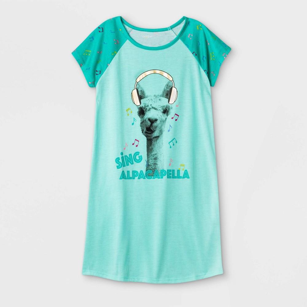 Girls 39 Alpacapella Nightgown Cat 38 Jack 8482 Green Xs