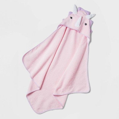 Baby Girls' Dino Hooded Bath Towel - Cloud Island™ Pink
