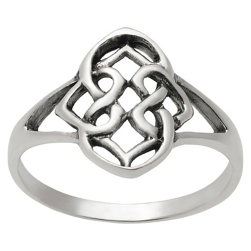 Women's Journee Collection Celtic Knot Design Slim Ring in Sterling Silver - Silver - image 1 of 2