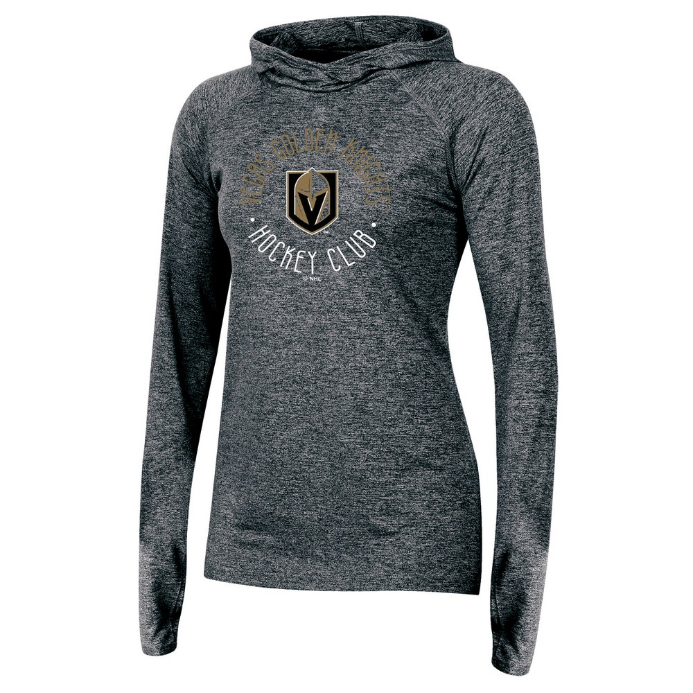 Vegas Golden Knights Women's For the Win Gray Performance Hoodie XL, Multicolored