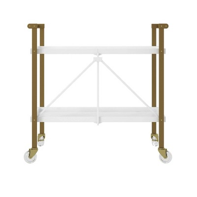 Trevia Folding Cart White - CosmoLiving by Cosmopolitan