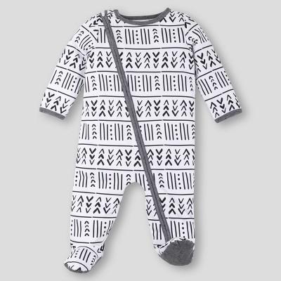 Lamaze Baby Organic Cotton Geometric Sleep N' Play - Gray/White 3-6M