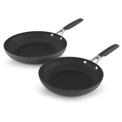 Calphalon 10 Inch and 12 Inch Hard-Anodized Non-stick Fry Pan 2pack Set