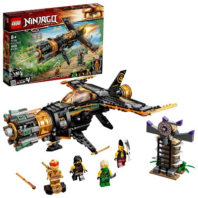 LEGO NINJAGO Legacy Boulder Blaster; Airplane Toy Featuring Collectible Figurines 71736
