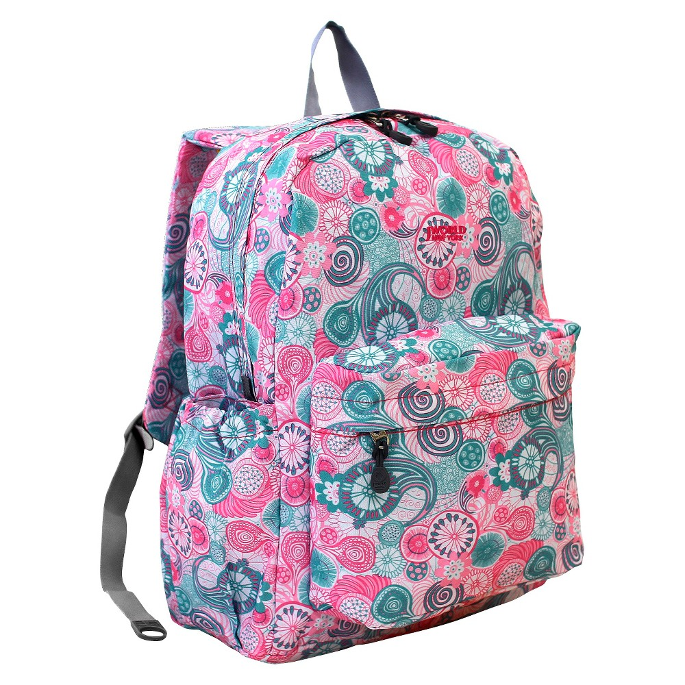 J World 17 Oz Laptop Backpack - Blue Raspberry J World New York OZ backpack comes in a variety of prints that will make you look very fashion forward. This backpack features back cushion and ergonomic shoulder straps for all day comfort.With roomy compartment, front zipper pocket and side pockets, the backpack offers plenty sotrage for items for your daily commute or occasional trip. Color: Blue Raspberry. Gender: Female. Pattern: Swirl.