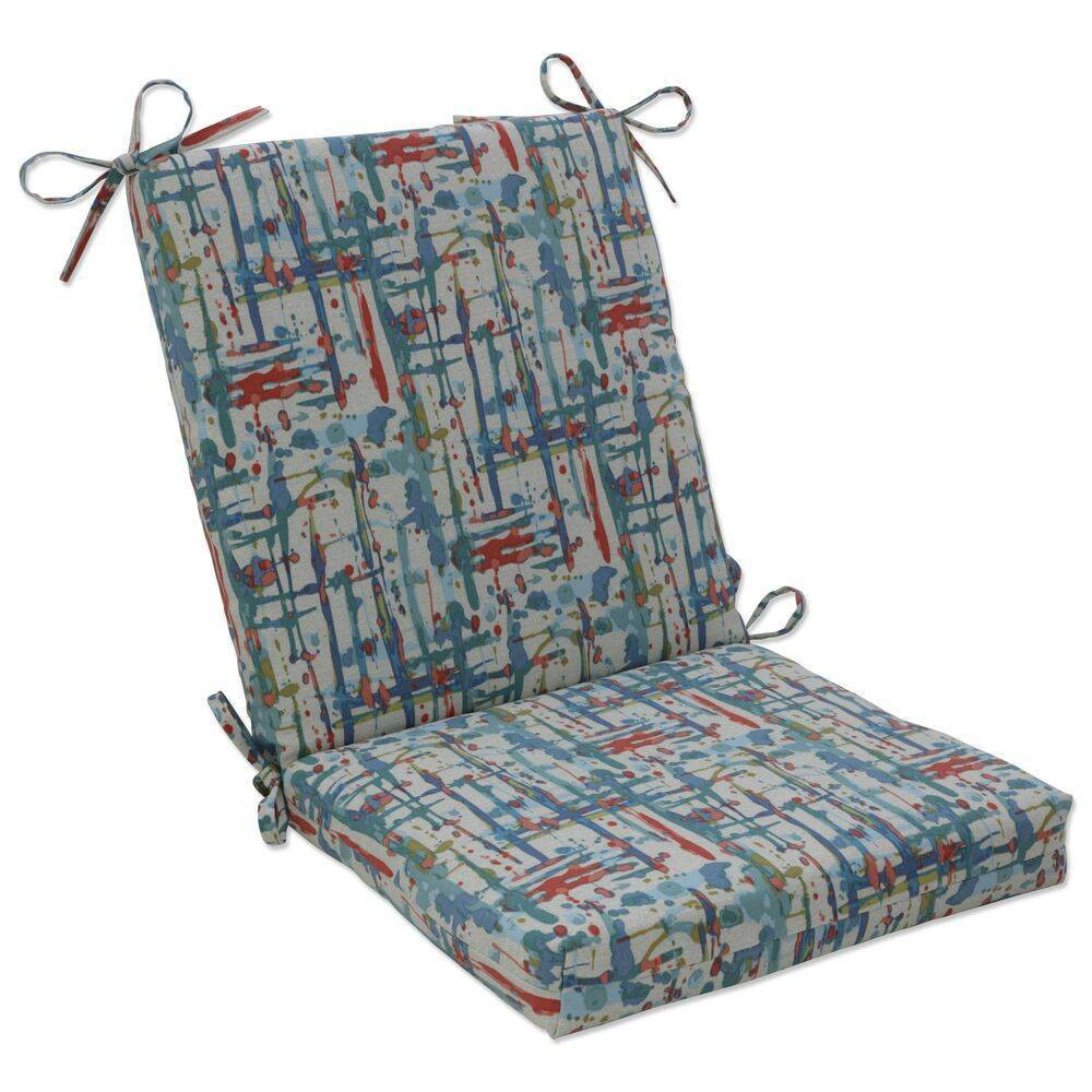36 5 34 X 18 34 Outdoor Indoor Squared Chair Pad Quiddt Americana Blue Pillow Pad
