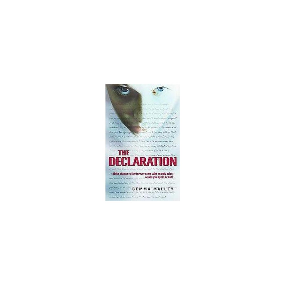 Declaration (Reprint) (Paperback) (Gemma Malley)