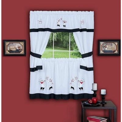 GoodGram Gourmet Complete Cottage Kitchen Curtain Set By GoodGram