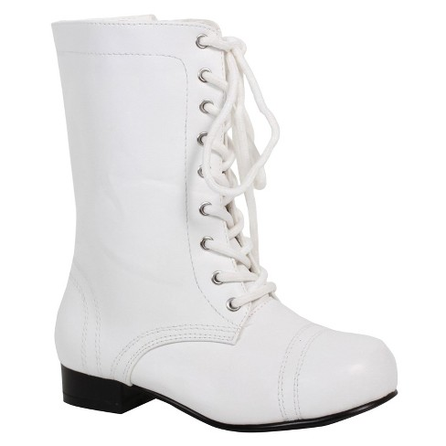 Kids' White Ankle Combat Costume Boot - image 1 of 1