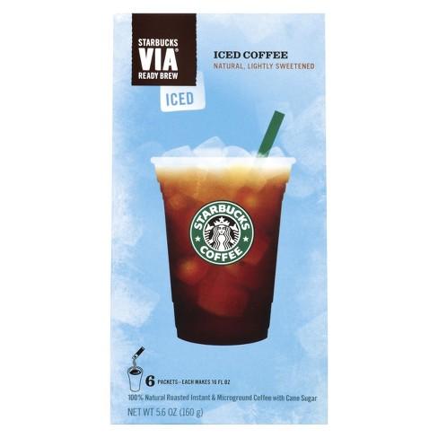 Starbucks VIA Instant Sweetened Iced Coffee - 6ct : Target