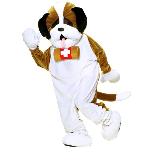 Halloween Adult Plush Puppy Dog Mascot Costume, Adult Unisex