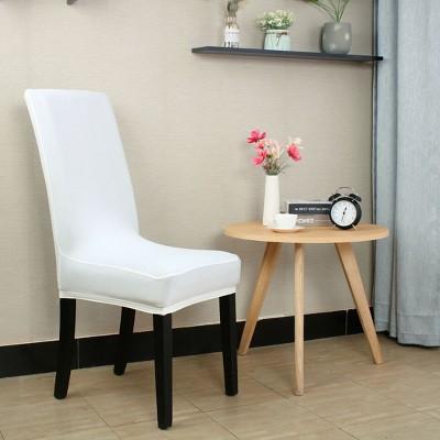 5 Pcs Spandex Elastic Washable Decor Party Dining Chair Slipcovers White  - PiccoCasa
