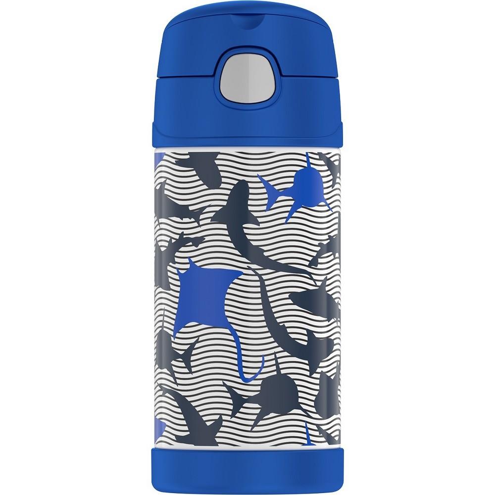 Thermos Crckt 12oz Funtainer Water Bottle - Wavy Shark, Pink