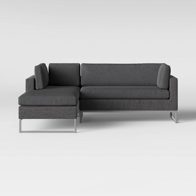 Howell 2pc Left Arm Patio Loveseat & Corner Chaise Lounge Chair Gray - Project 62™
