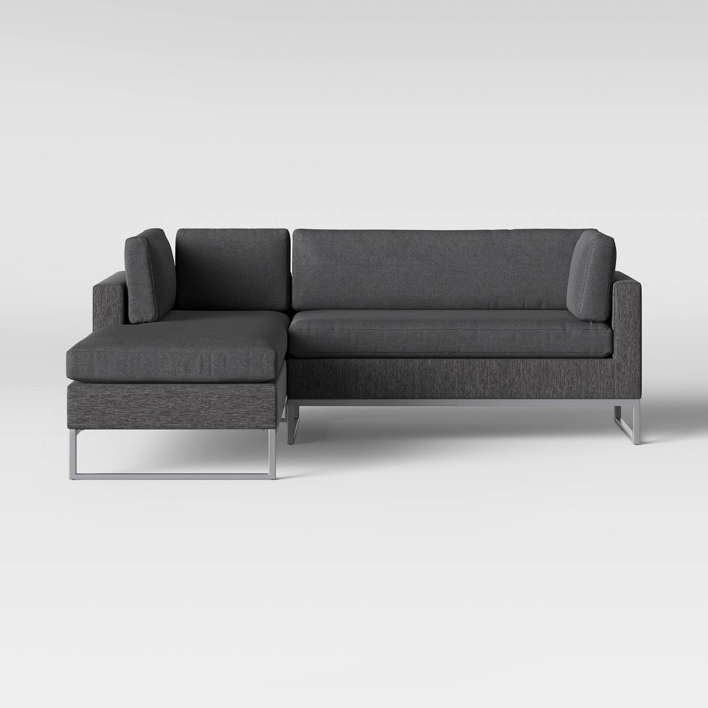 Howell 2pc Left Arm Patio Loveseat & Corner Chaise Lounge Chair Gray - Project 62 was $1200.0 now $600.0 (50.0% off)