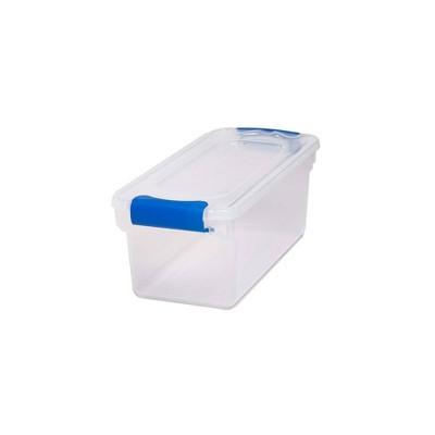 5pk 7.5qt Modular Latching Clear Storage - Homz