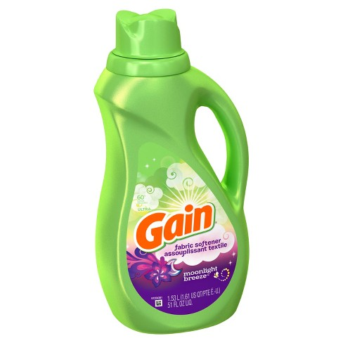 Gain Moonlight Breeze Fabric Softener - 51oz - image 1 of 2