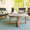 Athens Cement Coffee Table Gray - Leisure Made - image 4 of 4