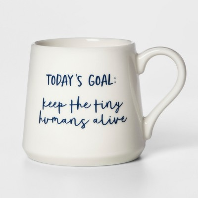 16oz Porcelain Today's Goal Mug White - Threshold™