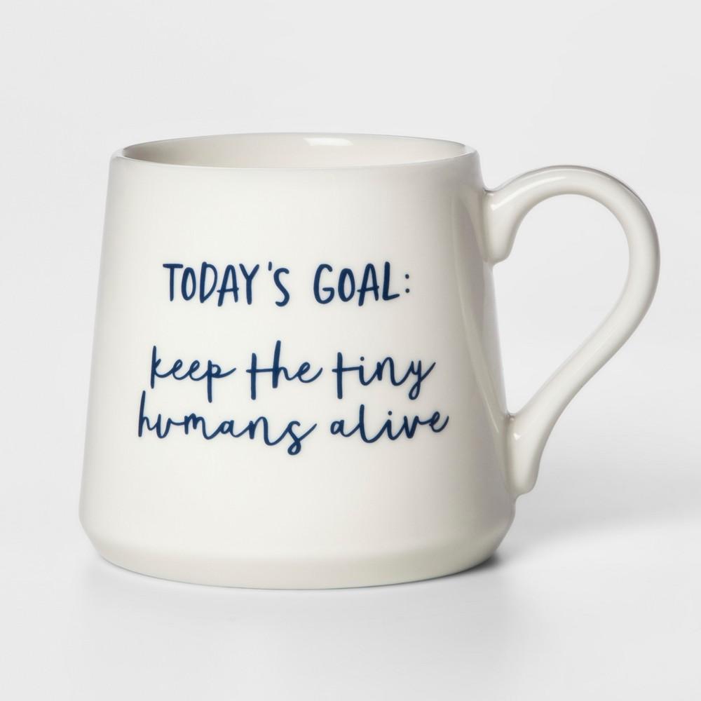 Image of 16oz Porcelain Today's Goal Mug White - Threshold